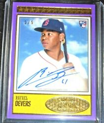 2018 Topps Brooklyn Collection Rafael Devers Auto D 2/5 Signed Autograph Rookie