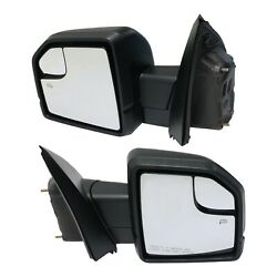 Mirror For 2015-2018 Ford F-150 Heated Set Of 2 Lh And Rh Textured Black