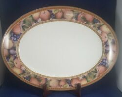 Fitz And Floyd Tuscany Oval Serving Platter 17 1/4