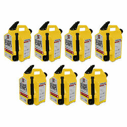 Surecan 5 Gallon 19 Liter Self Venting Diesel Fuel Can And Rotating Spout 7 Pack