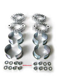 Kawasaki Z1 Kz 900 Holders Exhaust Collars And Nuts Set Pipes Holder Clamps Flange