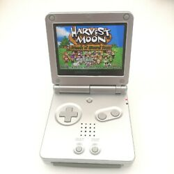 Pure Silver 5 Segment Backlight Ips Lcd Screen Game Boy Advance Gba Sp Console