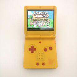 Pika W/red Button 5 Segment Backlight Ips V2 Lcd Screen Game Boy Advance Gba Sp