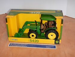 Ertl John Deere 2000 5420 Tractor With Front End Loader 1/16 Scale Diecast Nos