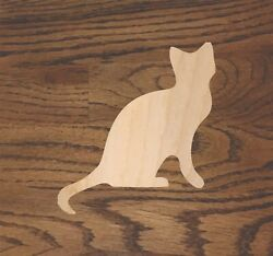 Sitting Cat Laser Cut Wood Sizes Up To 5 Feet Kitten Crafting A413