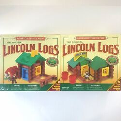 Original Lincoln Logs Trading Post Pine Cabin Building Set 99 Pieces New Sealed