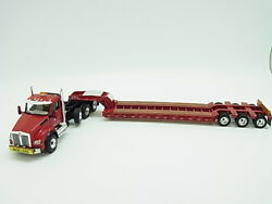 Komatsu Tractor And Trailer Kenworth T880 Red Miniature Model Limited 1/50
