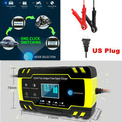 Car Full Automatic Battery Charger Intelligent Fast Power Charging Lcd Display