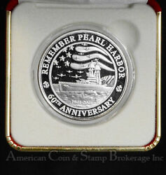 1941-1961 Remember Pearl Harbor 60th Anniversary Proof 39mm Silver .999 Medal