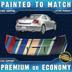 New Painted To Match - Rear Bumper Replacement For 2008-2012 Honda Accord Coupe