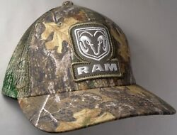 Hat Cap Licensed Dodge Ram Patch Realtree Camo Mesh OC