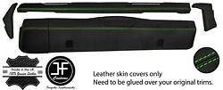 Green Stitch Dashboard 5 Piece Leather Covers Kit For Land Rover Series 2 2a 3