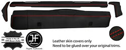 Red Stitch Dashboard 5 Piece Leather Covers Kit For Land Rover Series 2 2a 3