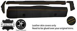Yellow Stitch Dashboard 5 Piece Leather Covers Kit For Land Rover Series 2 2a 3