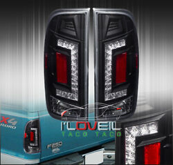 Black Led Replacement Brake Tail Lights Lamps For 1997-2003 Ford F150 Styleside