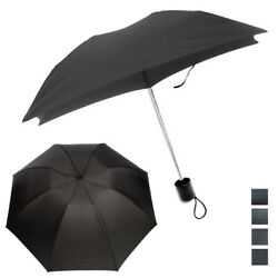 1 Mini Folding Compact Umbrella Travel Portable Black Super Light UV Protection