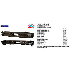 Replacement Step Bumper Assembly For Chevrolet Gmc Rear Gm1103184dsc