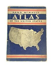 Vintage 1933 Mcnally Atlas Of United States Usa 30s Map D1