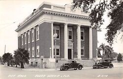 c.1940 RPPC City Hall Clearwater FL by LL Cook Co.
