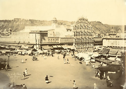 Inde The Wind Place And Bazaar Jaipur India. Vintage Print. Tirage Citrate
