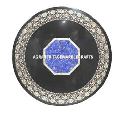 Marble Outdoor Dining Table Top Mother Of Pearl Embossed Art Handmade Decor H487