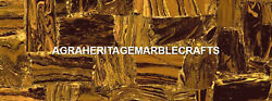 Intregrate Marble Dining Room Inlay Table Fine Work Iron Tiger Eye Decor H5594