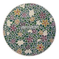 Marble Top Dining Table Mosaic Multi Floral Arts Collectible Inlaid Decor H4011