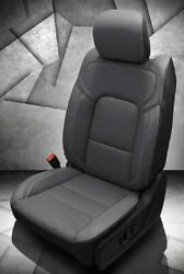 New 2019 2020 Ram Dt Crew Cab Katzkin Leather Seat Covers Big Horn Black And Gray