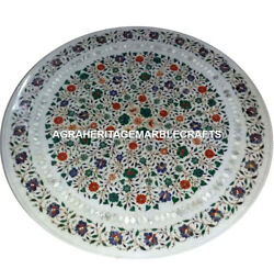 Marble Table Top Multi Mosaic Stunning Inlay Art Decorative Home Furniture H4562