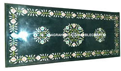 Marble Decorative Dining Table Gems Malachite Inlay Mosaic Occasion Decor H933