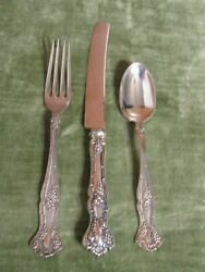 1847 Roger Bros Silverplate 1904 Vintage Grapes Youth Set - Fork Hh Knifespoon