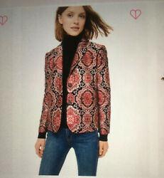 New Kate Spade Medallion Jacquard Jacket Size 4  398 Sold Out