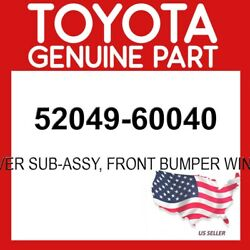 Toyota Genuine 52049-60040 Cover Sub-assy Front Bumper Winch Oem