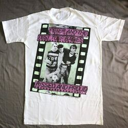 Vintage Peter And The Test Tube Babies T Shirt 1982 80s Punk Rock Band Tshirt