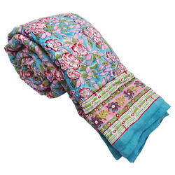 Jaipuri Handmade Loose Cotton Queen Size Bed Quilts For Winter Reversible Online