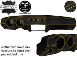 Yellow Stitch Dash Dashboard Real Leather Cover Fits Datsun 260z 2+2 Jf2