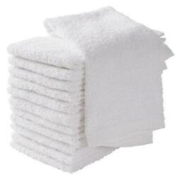 24 Kitchen Bar Mop Towels Cleaning Towels 16x19 Cotton White Kitchen Rags