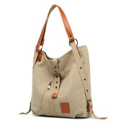 Women Vintage Canvas Totes Multifunction Large Capacity Handbag For Travel bag $24.99