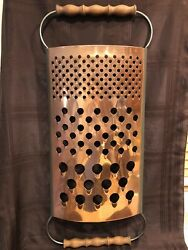 1979 Curtis Jerandeacute Copper Cheese Grater Wall Sculpture Mid Century Modern Signed