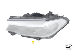 Genuine Bmw 5and039 Series G30 F90 G31 Headlight Led Adaptive High Right 63117214962