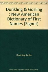 Dictionary of First Names The New American Signet