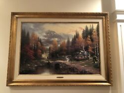 Thomas Kinkade-the Valley Of Peace-beginning Of A Perfect Day Ii-limited Edition