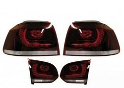 New Genuine Vw Golf Mk6 R-line Cherry Red Tinted Led Euro Taillights Set Lhd Oem
