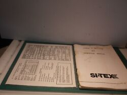 Vintage Si-tex Xj-1 Loran C Receiver Boat Navigation System Manual Only-no Cover