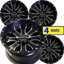 Bombardier Can-am Traxter Solid Rear Axle Atv Rims Wheels 12x7 4/110 Set Of Four