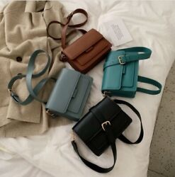 Solid Color Pu Leather Cross Body Bags For Women 2020 Luxury Hand Bag