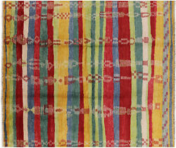 Hand-knotted Moroccan South Western Navajo Design Wool Rug 8and039 2 X 9and039 8 - H8819