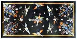 Marble Dining Table Top Inlaid Multi Birds With Floral Kitchen Decorative H3852