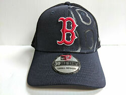 Boston Red Sox Cap New Era 39thirty Stretch Fit Team Color Tonal Neo Hat Mlb