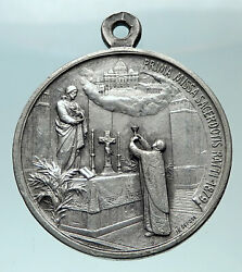 1929 Italy Vatican Christian Pope Pius Xi Silver Jesus Medal For Jubilee I82446